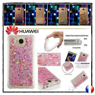 Etui Coque Housse Silicone Paillettes Glitter TPU Case Cover Huawei Y5 / Y6 2017