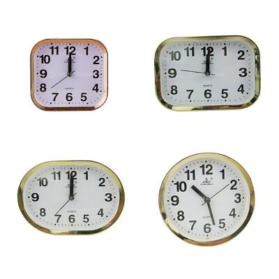 Multi Shaped Clock Quartz Clock Gold Frame Desk Clock Home Office Room Decor