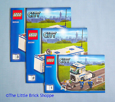 Lego City Mobile Police Unit 7288 Instructions Book 2 Only No Bricks