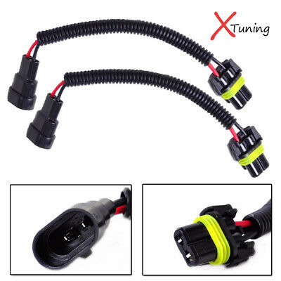 2PCS 9006 HB4 Extension Wiring Harness Sockets Cable For Headlights  Hb Wiring Harness on