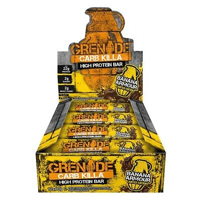 Grenade Carb Killa Bar Protein Muscle Recovery Growth Repair Snack - 12 x 60g