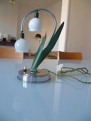 Rare Art Deco Lampe Muguet Lily Of The Valley Lamp Vintage 1930