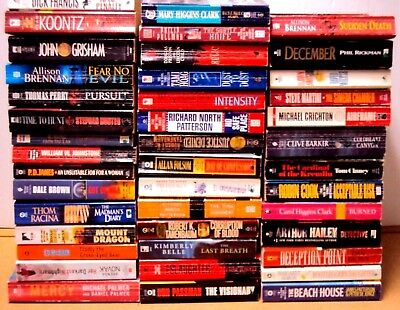 Lot 20 Mystery Thriller Action Fiction Paperback Book Random Pick Author Title