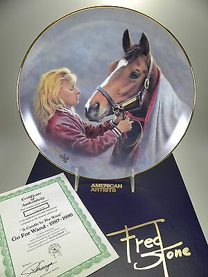 "Fred Stone A Candle In The Wind Horse Collector Plate (#1898) 10"" Box & Cert"