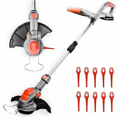 Cordless Strimmer 18V Li-ion Grass Quick Change Blades Grass Edger Lawn Cutter