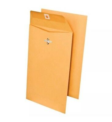 """150 ct  6"""" x 9"""" Brown Kraft Mail Envelopes with Clasp 150 Count"""