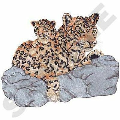 "Leopard, Wild Animal, Exotic Cat Embroidered Patch 8.5""x 7.1"""