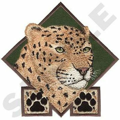 "Leopard, Wild Animal, Exotic Cat Embroidered Patch 6.9""x 6.9"""