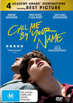 Call Me By Your Name  - DVD - NEW Region 4, 2