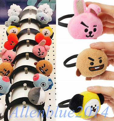 KPOP BTS BT21 Plush Doll Spielzeug Headband Hair Clip Cartoon Puppe Dekoration