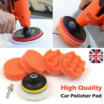 "3"" Car Polisher Kit Pad Buffer Gross Polish Polishing Kit Set Drill Adapter UK"