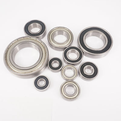 6000-6014ZZ/2RS ABEC1/ABEC3 Thin-wall Shielded Deep Groove Ball Bearing