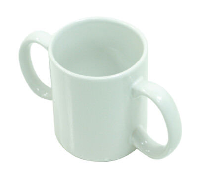 Two Handled Ceramic Mug - Two handled adult drinking aid.