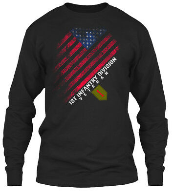 5a647aa2a03 The Big Red One Veteran - 1st Infantry Division 1 Gildan Long Sleeve Tee T-