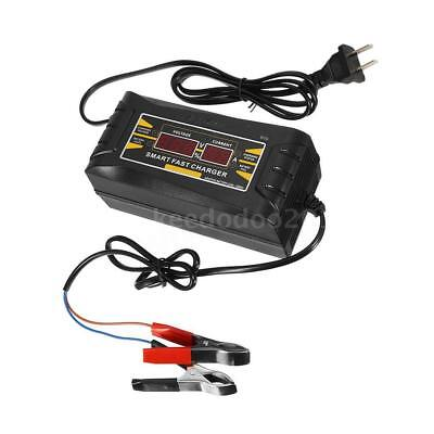 Full Automatic150V/250V To 12V 6A Car  Battery Charger LCD Smart Fast Lead-acid