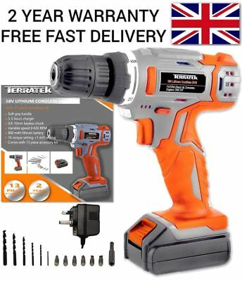 Cordless Drill Combi Power Diy Drill Driver Electric Power Screwdriver 13Pc 18V