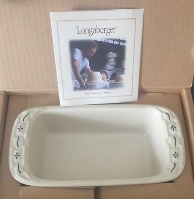 Longaberger Pottery ~ WT Small Loaf Dish~ NIB