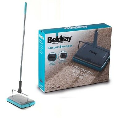 BELDRAY MANUAL CARPET SWEEPER NOBODY DOES IT BETTER  With 2 AUXILLARY BRUSHES TU