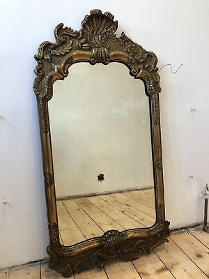 Antique 19th Century Rococo Style Giltwood Wall Mirror