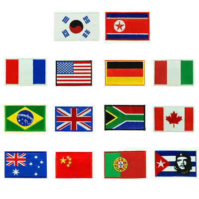 Nation Flag Emblem Non-Woven Patch Sewing Embroidered Sew Patches 9*6CM
