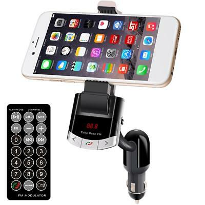 Car Kit Bluetooth Handsfree FM Transmitter Charger MP3 Player Phone Mount Holder