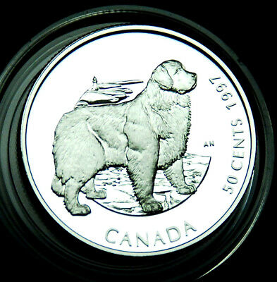 Canada 50¢ 1997 silver proof Newfoundland dog:  Canada's Best Friends #2