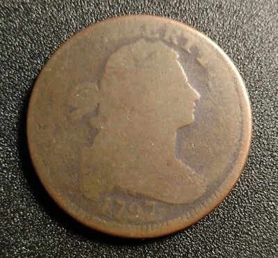1797 W/ Stems Draped Bust Large Cent AG