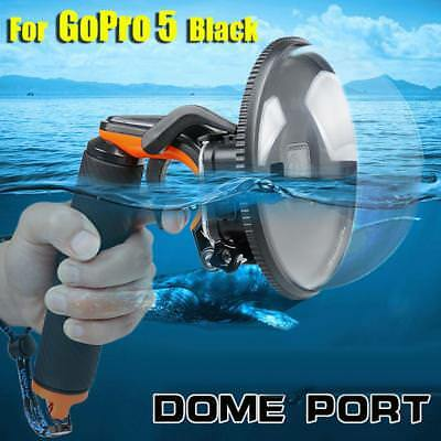 Dome Port Lens per GoPro Hero 5 6 nero con custodia impermeabile,