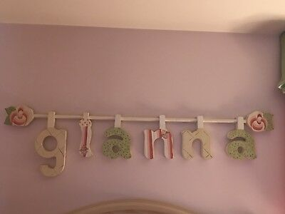 """Girls Personalized Wooden Name Letters """"Gianna"""""""