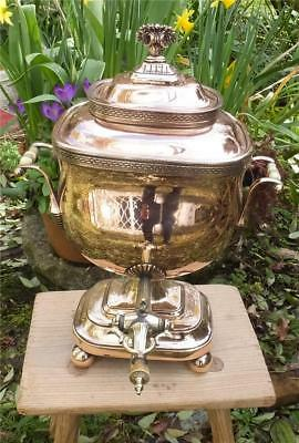 TOP QUALITY ANTIQUE ENGLISH REGENCY COPPER SAMOVAR/TEA URN of SMALL SIZE