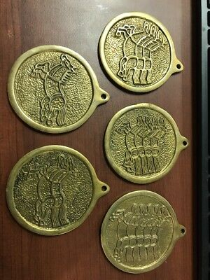 LOT OF 5 Korean HORSE  MEDALLIONS