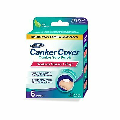 DenTek Canker Cover Medicated Mouth Sore Patch, 6 Count