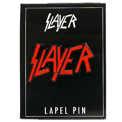 Authentic SLAYER Red Logo Lapel Pin NEW