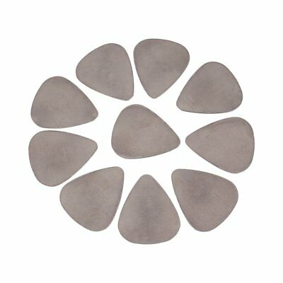 10Pcs Stainless Steel Metal Picks Plectrums for Electric Guitar Bass Silver