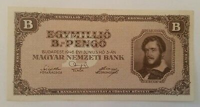 Hungary egymillio 1946 banknote UNC