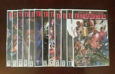 Transformers: Till All Are One #1 - 12 Complete Run. IDW VF/NM