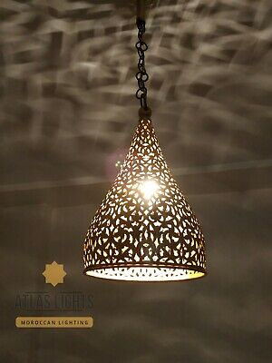 Moroccan Pendant Brass Light Antique Lamp Hanging Vintage Ceiling Chandelier