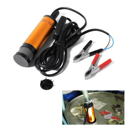 38MM 12V Car Auto Submersible Pump 38mm Water Oil Diesel Fuel Transfer Golden