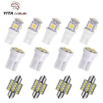 13x White LED Bulbs Packge Kit for Interior Map & Dome & License Plate Lights
