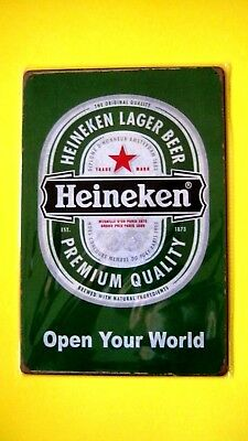 Wall Decor bar Poster Metal tin BEER SIGN (HEINEKEN LAGER BEER PREMIUM QUALITY)
