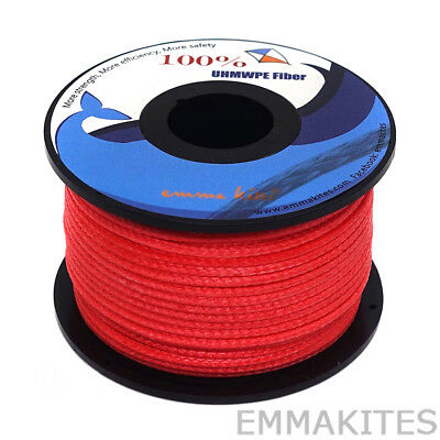 Braided 350lb 100ft Dyneema Line String for Parachutes Power Kites Line Flying