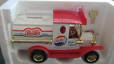 Golden Wheel Diecast Pepsi-Cola Collectible Coin Bank NIB