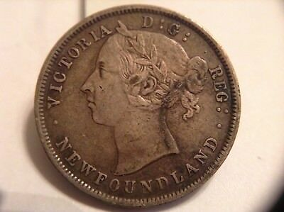 1900 Newfoundland SILVER 20 cents VF Condition BETTER DATE COIN