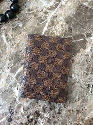 Preowned Louis Vuitton Men's Genuine Leather Brown Canvas Card Passport