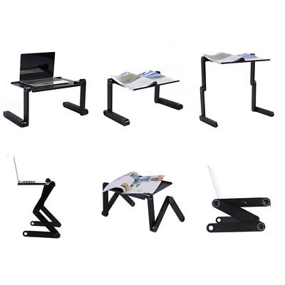 360°Adjustable Folding Laptop Notebook Desk+Cooling Fan Table Stand Bed Tray 1J