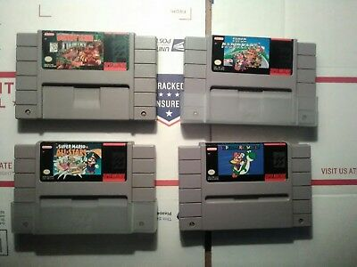 lot of 4 super nintendo games... all tested and working...