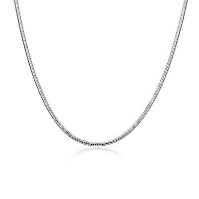 """100% Stainless Steel Necklace Silver Color 2 mm Snake chain 18"""" - 28"""" Inches"""