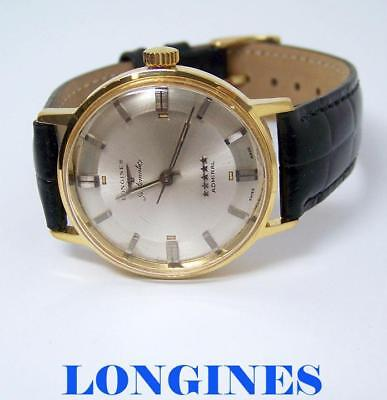 Vintage LONGINES 5 Star ADMIRAL Automatic Watch 1960s Cal 342 PIE PAN DIAL EXLNT