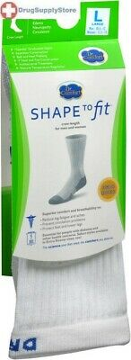 74c8ad96a2 DR COMFORT DIABETIC Crew Extra Roomy Length Socks Supports Shape to ...