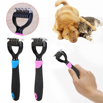 Pet Dog Short Hair Knot Cutter Remove Rake Grooming Brush Comb Metal Blade*